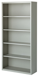 5 shelf bookcase, gray
