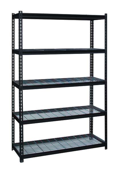 2300 lb. Riveted Shelving With Wire Decking